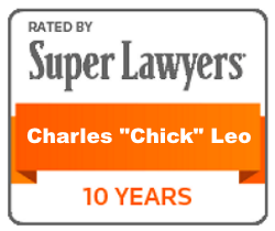 "rated by Super Lawyers: Charles ""Chick"" Leo"