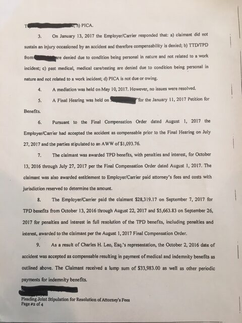Joint Stipulation of Attorney's fees page 2